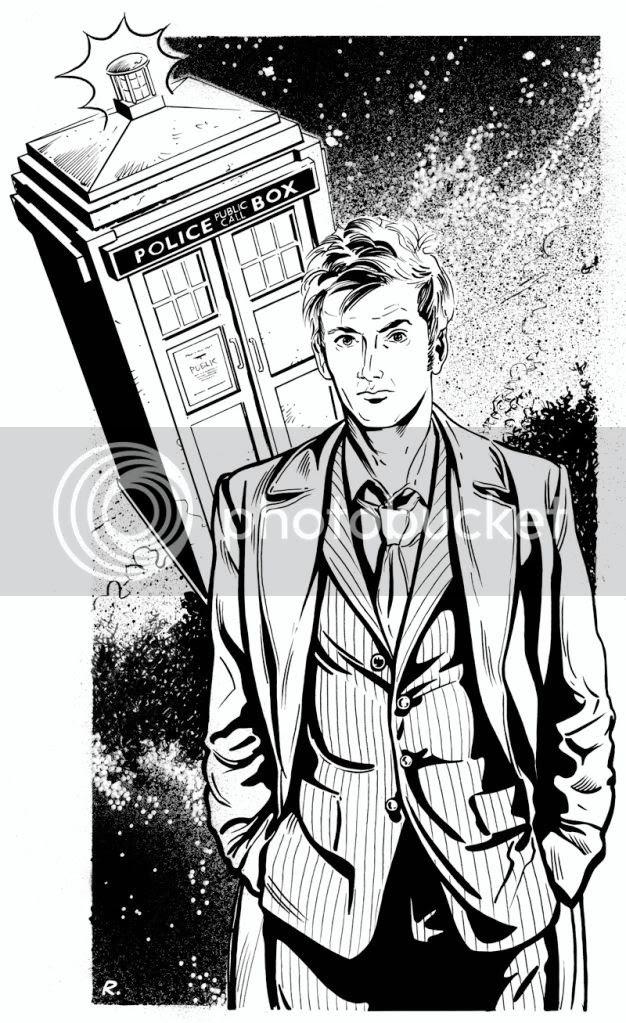 Doctor Who,illustration,Graeme Neil Reid,Inks