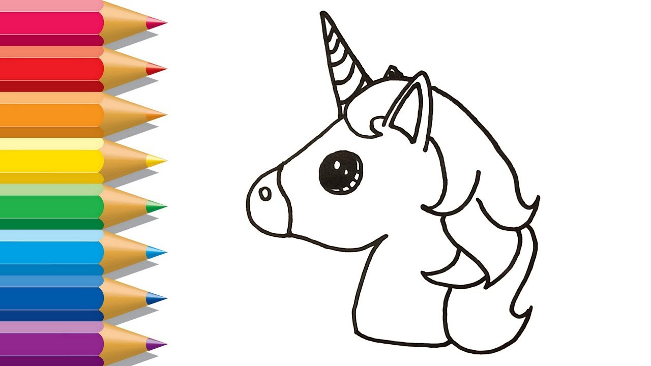 Unicorn Head Drawing Easy at GetDrawings | Free download