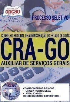 Apostila Processo Seletivo CRA-Goiás 2016, Auxiliar de Serviços Gerais,
