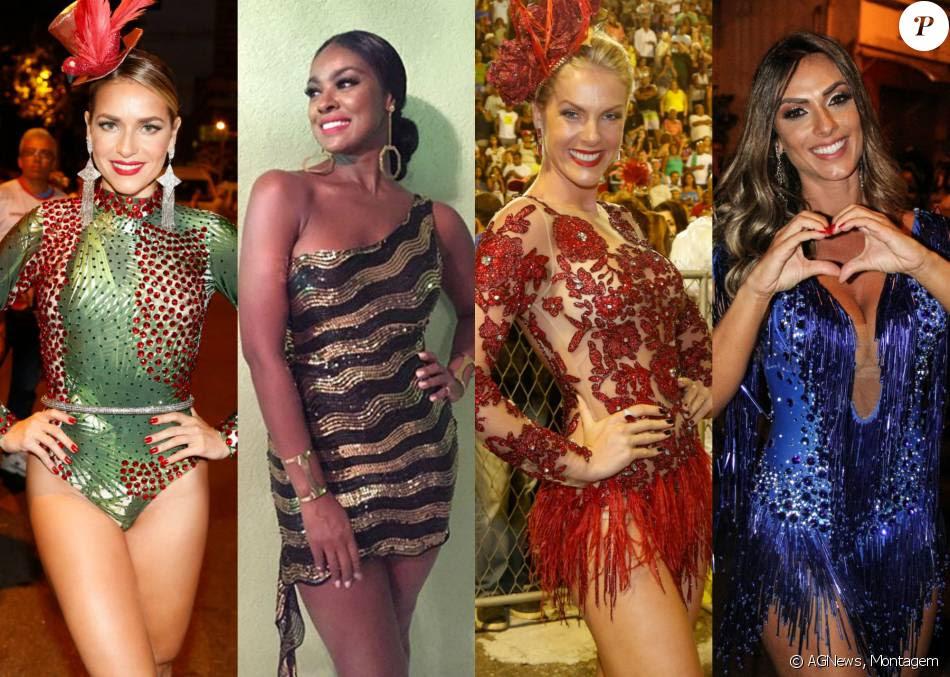 Famosas capricham nas fantasias para brilharem nos ensaios das escolas de samba no Carnaval 2016