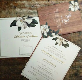 Contoh Undangan Pernikahan Simple Elegan
