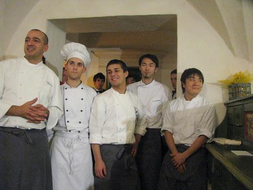 Pino Cuttaia e lo staff
