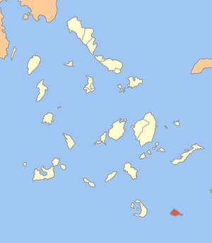 Locator map of Anafi communitiy (Κοινότητα Ανά...