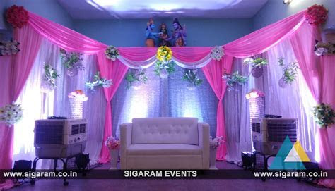 Reception Stage decoration at Manicka Mudaliar Mandapam