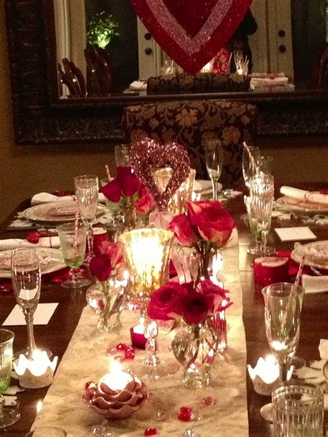 valentines dinner entertaining  party ideas