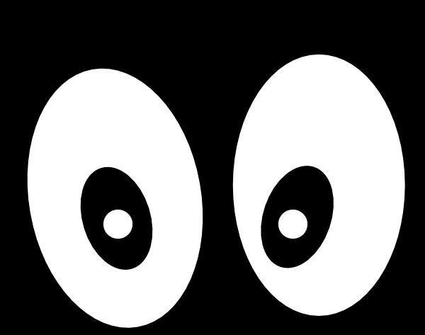 cartoon eyes straight on black hi