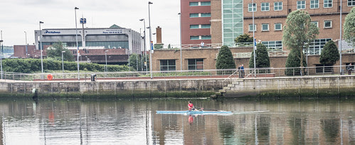 Belfast - Rowing On The River Lagan by infomatique