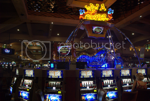 Endless rows of slot machines every where - picture by Mirjam