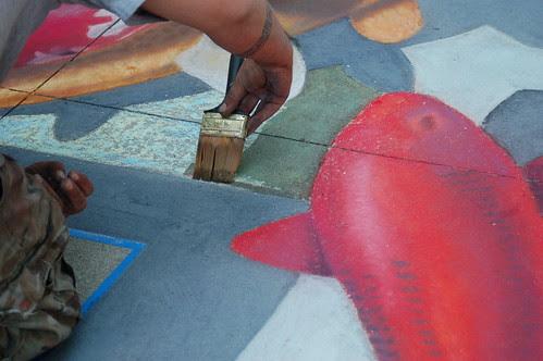 Side Walk Chalk Art