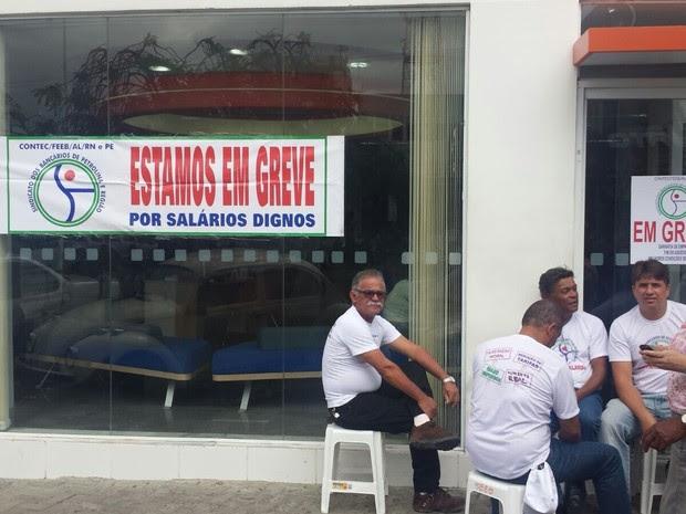 Greve dos bancos em Petrolina, PE (Foto: Leciane Lima/ TV Grande Rio)