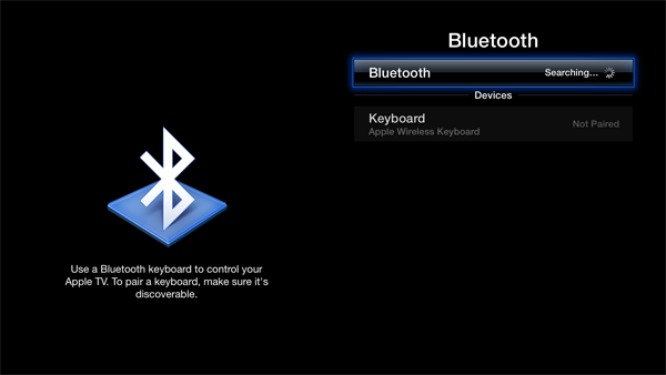 apple tv bluetooth keyboard How to add and use a Bluetooth keyboard with your Apple TV (5.2/iOS 6.1)