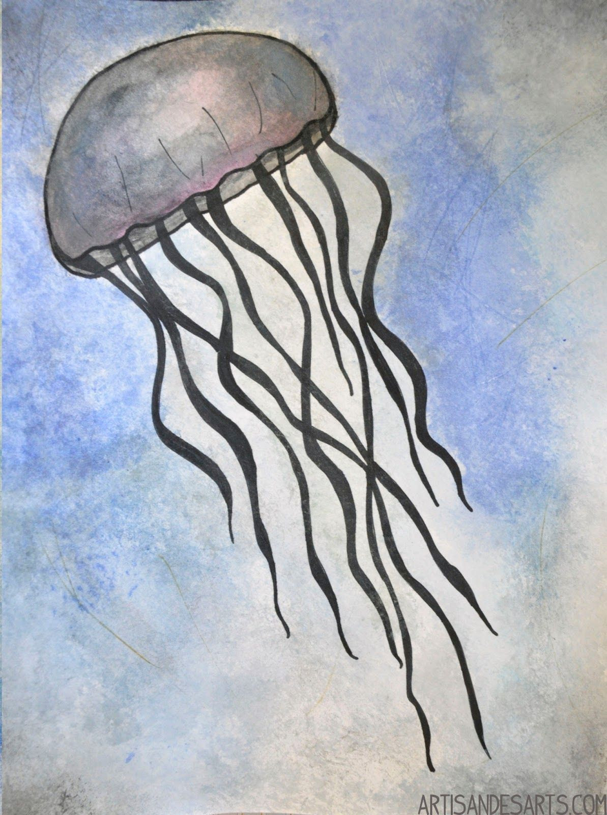 Simple Jellyfish Drawing at GetDrawings | Free download