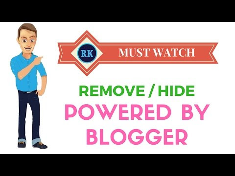 REMOVE OR HIDE POWERED BY BLOGGER