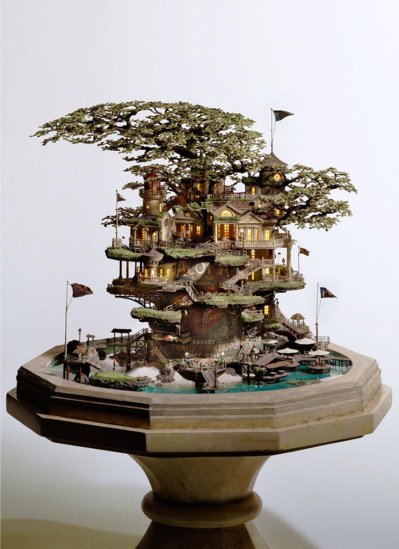 As intrincadas esculturas em miniatura de Takanori Aiba 07