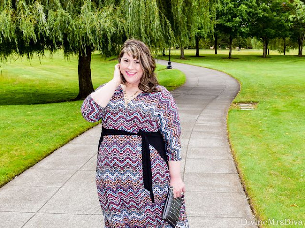 Reviewing Kiyonna's Moroccan Maxi Wrap Dress