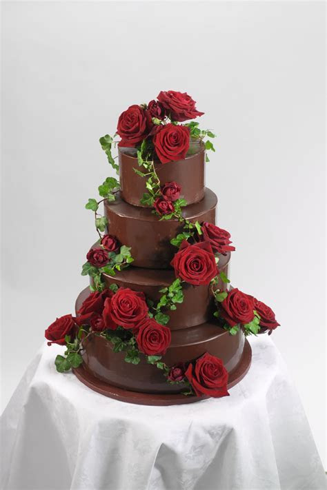 12 chocolate wedding cakes
