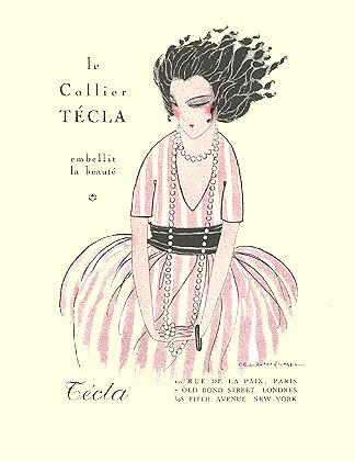 Charlotte Raffe, Gazette du Bon Ton, Tecla ad, 1920
