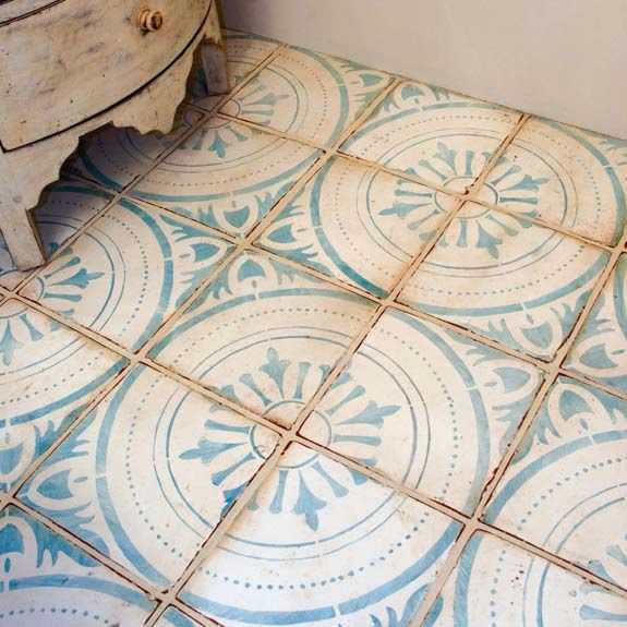 Tabarka tile, moroccan, mediterranean, blue and white, rustic, bohemian, photo by Janet Marshall, Statements in Tile, Santa Fe, NM