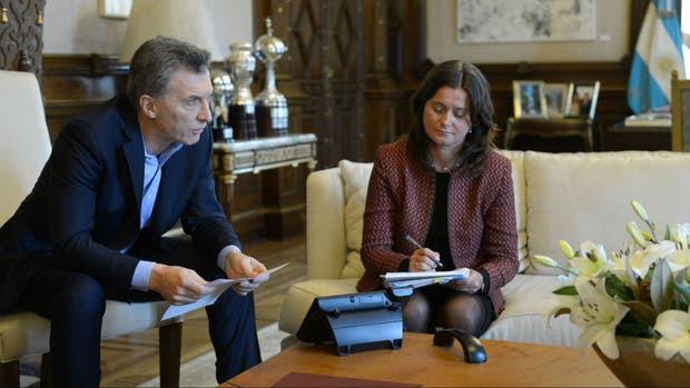 Mauricio Macri durante la conversación telefónica con Putin