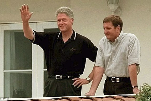 Ron Burkle (right, with Bill in 1997), supermarket magnate and one of the world's richest men,raised hundreds of thousands for Hillary's campaigns