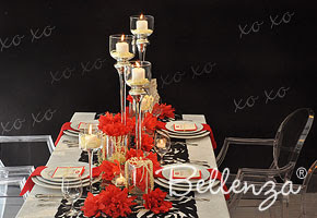 A Modern and Chic Valentine's Table by Bellenza