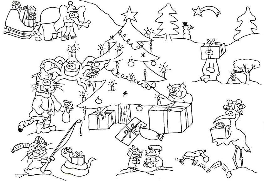 weihnachten bilder ausmalen