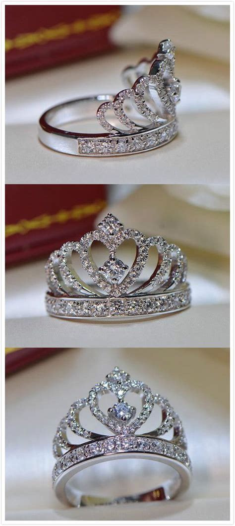 25  best ideas about Crown rings on Pinterest   Princess