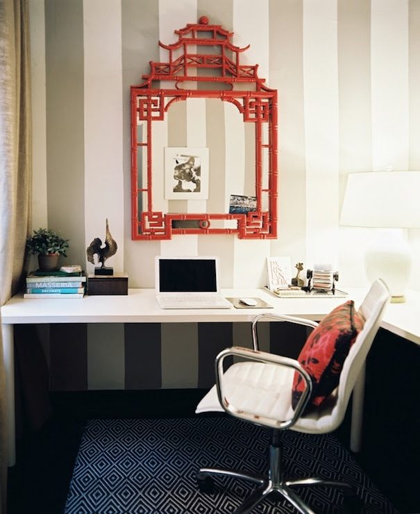 Pagoda Mirror - Contemporary - den/library/office - Lonny Magazine