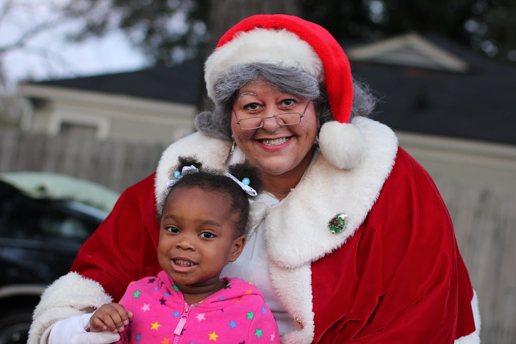 Mrs. Claus at Christmas Festival