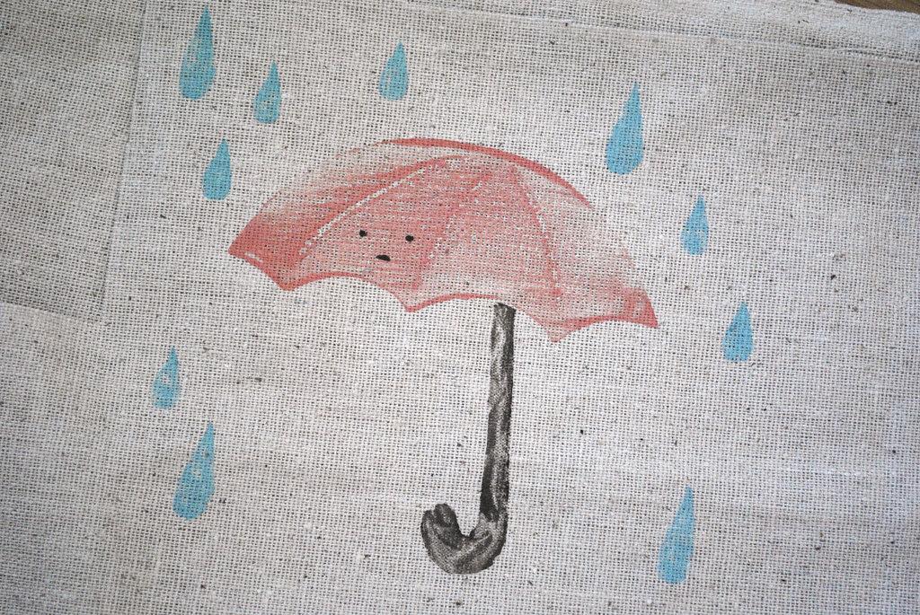 umbrella on fabric