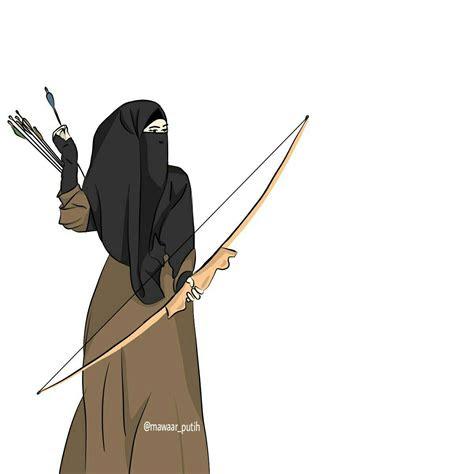 gambar kartun muslimah memanah koleksi gambar hd