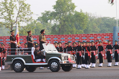 COAS REVIEWING THE PARADE by Chindits