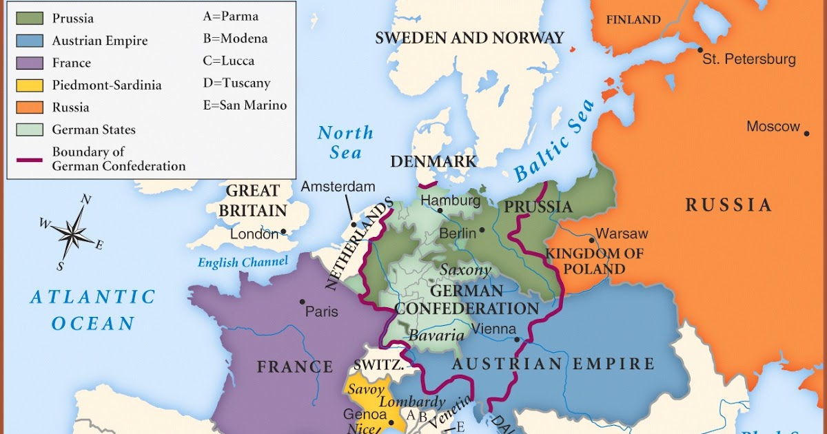 The Amazing Blog In NCC Germany Assignment German - Germany map in 1850