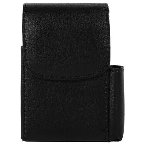 Cigarette Case PU Leather Tobacco Pouch Box Lighter Holder