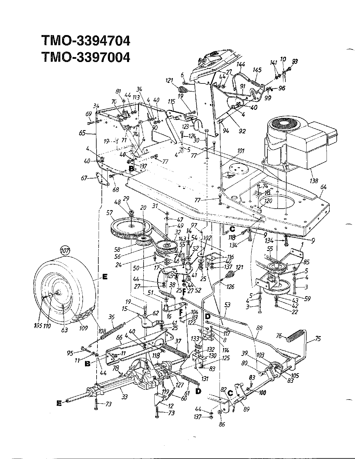 """12 HP 38"""" LAWN TRACTOR Page 5 Diagram & Parts List for ..."""
