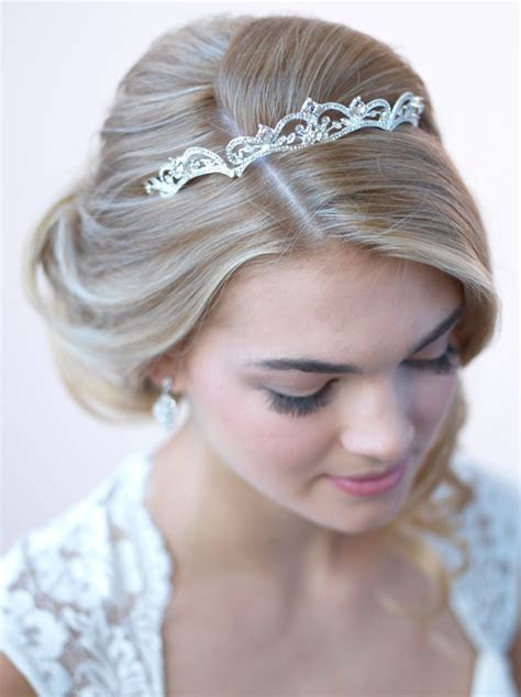 Modern Scrolling Wedding Tiara, Bridal Crown   USABride