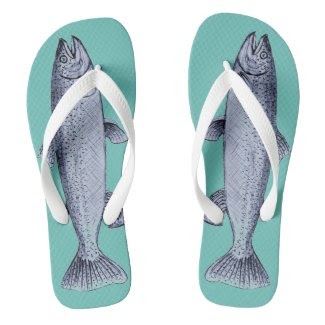 Flip Flops with Fish Art