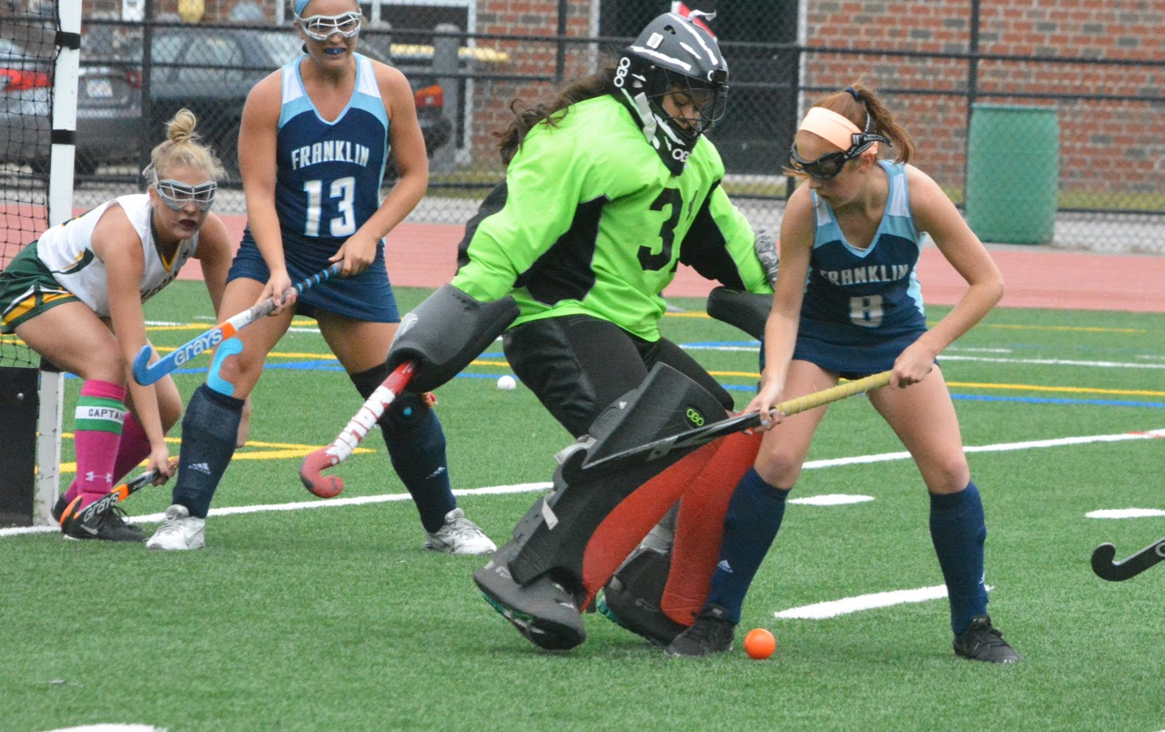 Abby Campbell (31) made 14 saves for KP but Christina Quinn's first half goal gave Franklin the win on Thursday. (Josh Perry/HockomockSports.com)