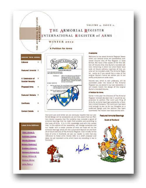 Newsletter Armorial Register