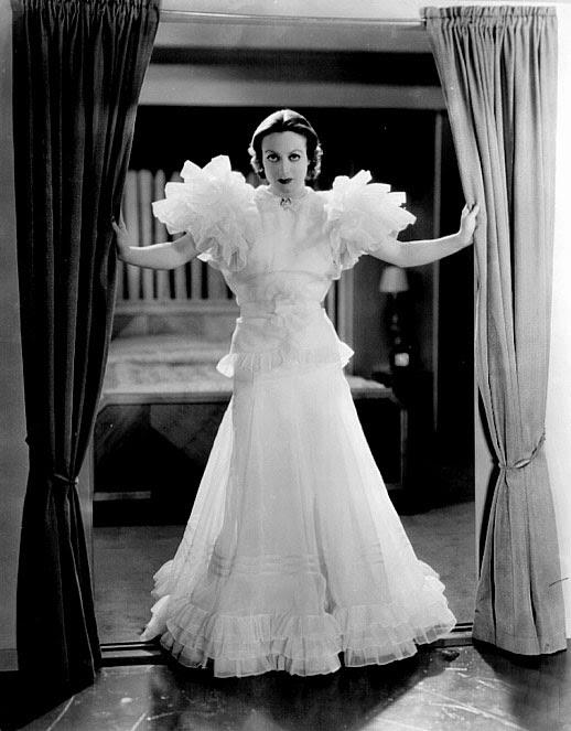 Ladies evening wear 1930s