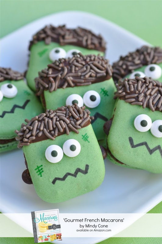 Frankenstein Macarons - via BirdsParty.com