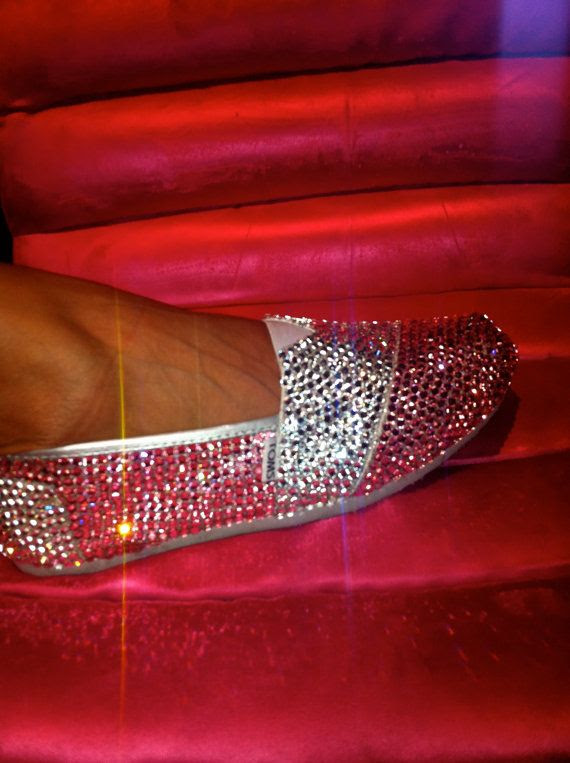"I may need to make a pair of flats for my wedding, too.--ha! blinged out TOMS..cool..mine will say ""The Mrs."""