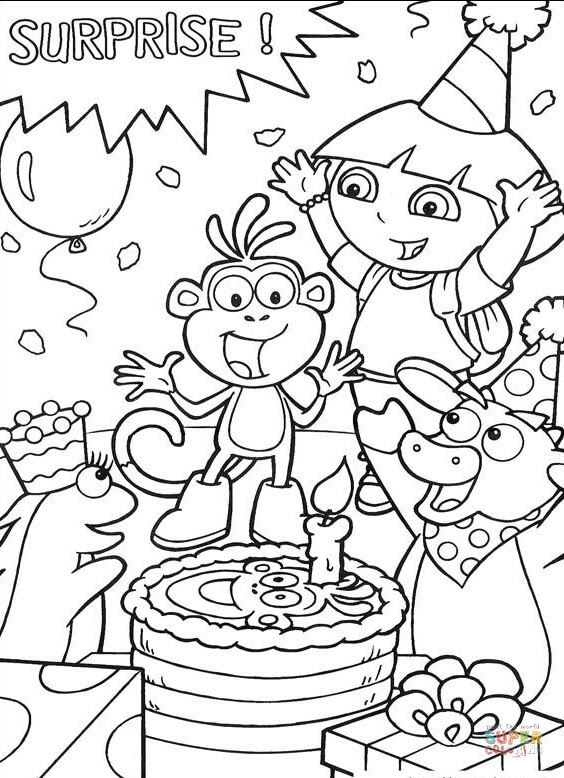 930 Free Coloring Pages Dora The Explorer Pictures