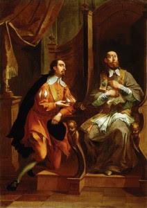 São Francisco de Sales atendendo confissão (Janez Valentin Metzinger, séc. XVIII - Galeria Nacional da Eslovênia).