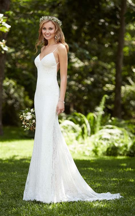 Beach Wedding Dress with Low Back   Stella York Wedding