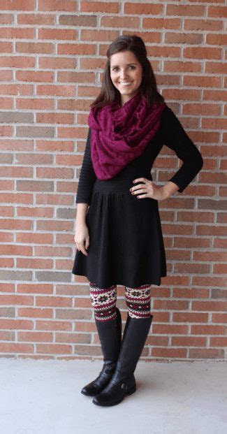 How to Wear Leggings Under a Dress  24 Legging Outfit Ideas