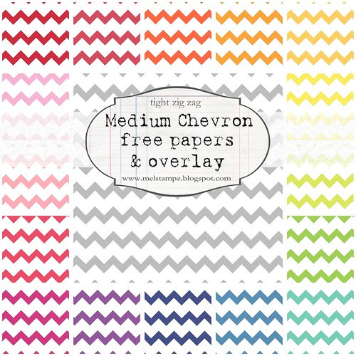 chevron tight MED Collage preview mel stampz