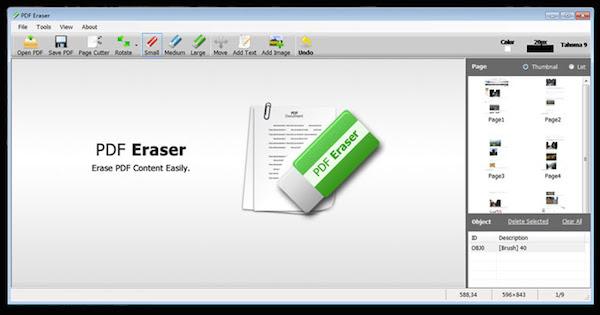 Modificare i file PDF come se fossero immagini con PDF Eraser
