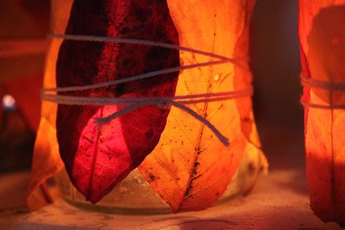 Herbstblätter-Licht