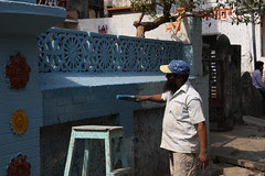 Mumbai Where a Muslim Man Paints a Hindu Temple As a Message of Peace Hope Humanity by firoze shakir photographerno1